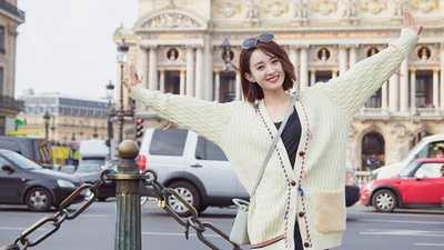 赵丽颖街拍写真高清桌面壁纸1