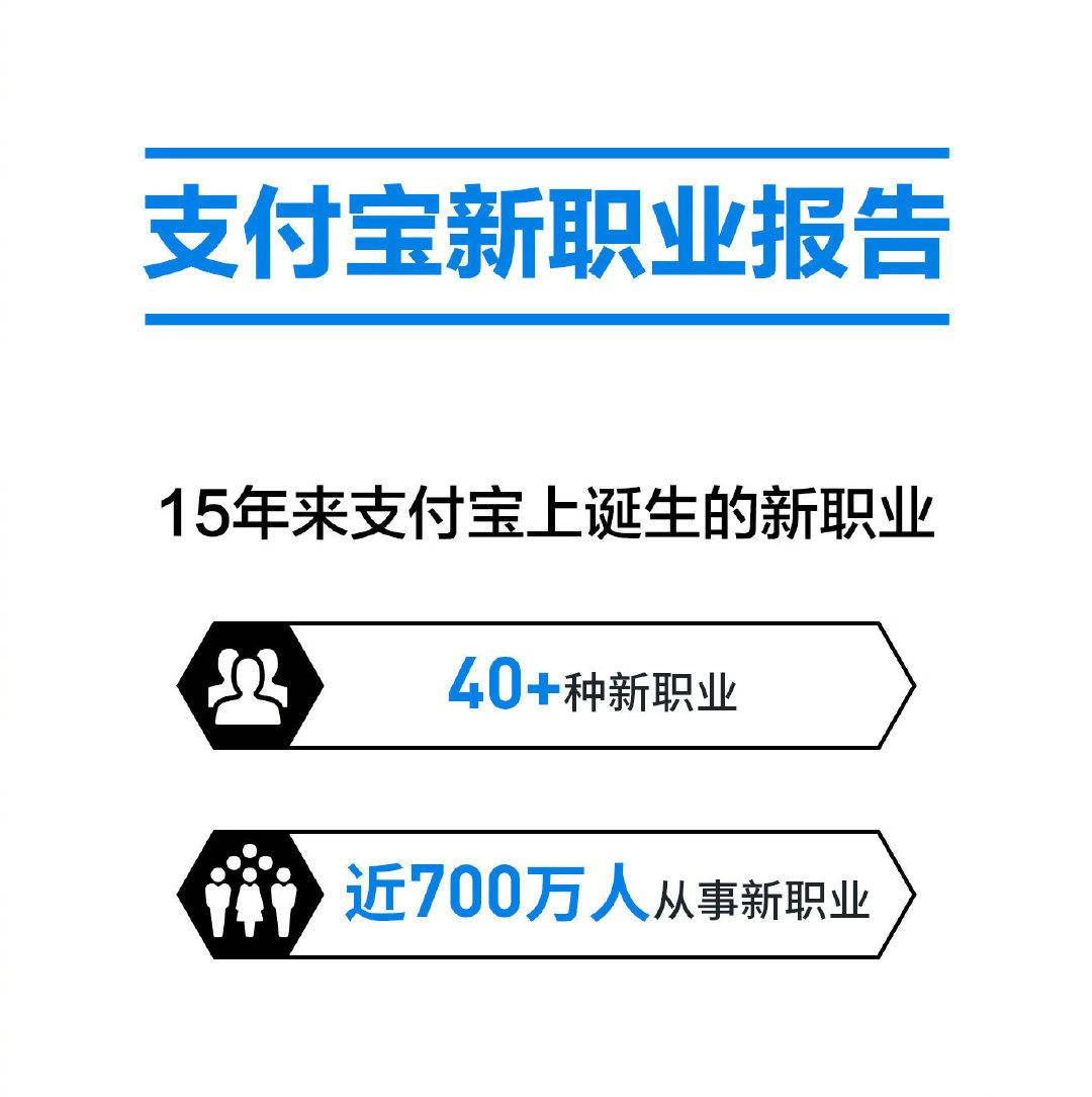 支付宝诞生的新职业:40余种,就业人数高达700万
