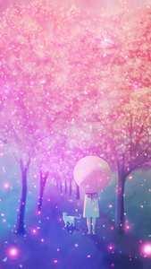 少女粉色系动漫美图手机壁纸1