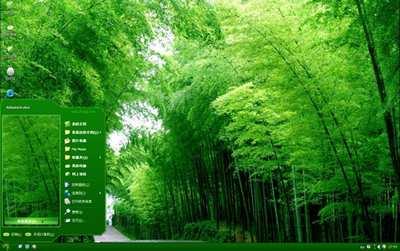 系统天堂绿竹入幽径美景xp主题