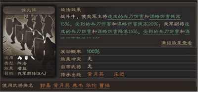 三国志战略版三大阵法分析 三大阵法强度排名